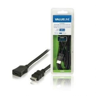 Valueline Verlengkabel High Speed HDMI-1m