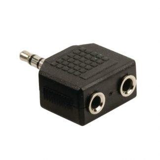 Valueline Audio-splitter 3,5 mm male - 2x female