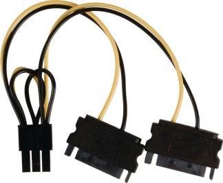 Valueline 2x SATA 15-Pins Male - PCI Express Female