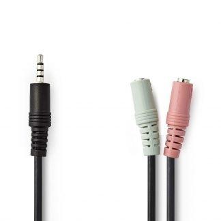 Nedis Audiokabel Headset 3,5 mm Male - 2x 3,5 mm Female 0,2 m